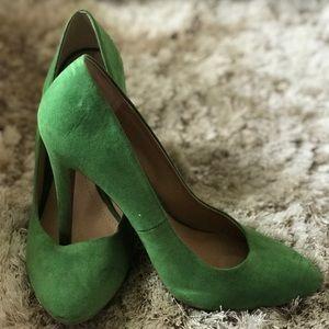 Green dress heels